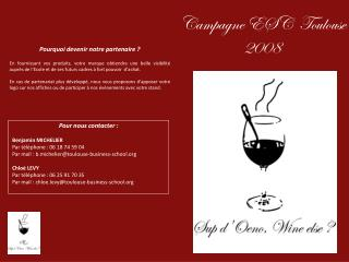 Campagne ESC  Toulouse 2008