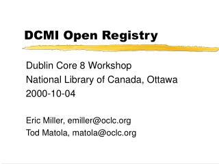 DCMI Open Registry
