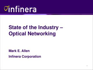 State of the Industry – Optical Networking