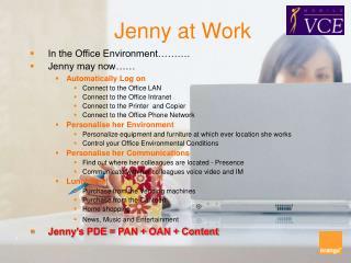 Jenny at Work