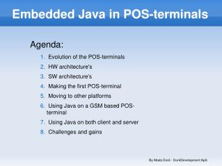 Embedded Java in POS-terminals