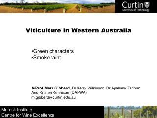 Viticulture in Western Australia
