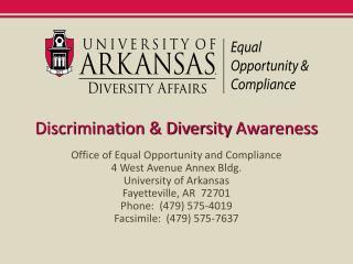 Discrimination & Diversity Awareness