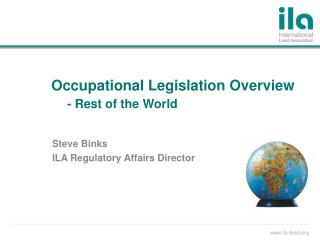 Occupational Legislation Overview - Rest of the World