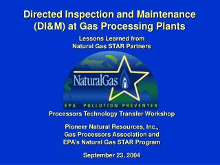 Directed Inspection and Maintenance (DI&M) at Gas Processing Plants