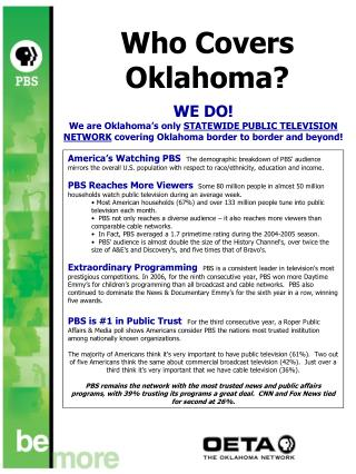 Who Covers Oklahoma?
