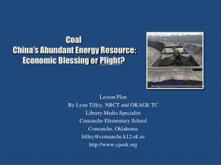 Coal  China's Abundant Energy Resource: Economic Blessing or  Plight ?