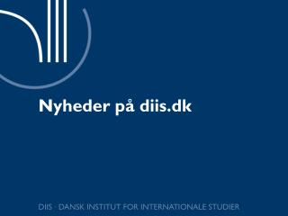 Nyheder på diis.dk