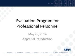 Evaluation Program for Professional Personnel