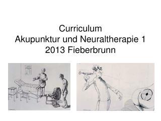 Curriculum Akupunktur und Neuraltherapie 1 2013 Fieberbrunn