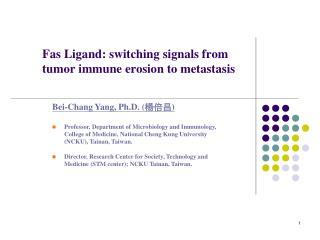 Fas Ligand: switching signals from tumor immune erosion to metastasis