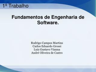 Fundamentos de Engenharia de Software.