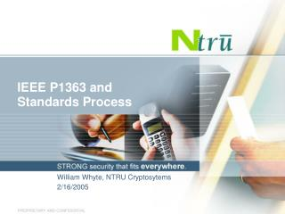 IEEE P1363 and Standards Process