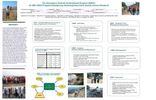 The Geoscience Diversity Enhancement Program (GDEP):