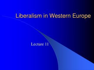 Liberalism in Western Europe