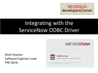 Integrating with the  ServiceNow  ODBC Driver