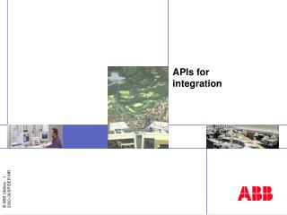 APIs for integration