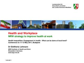 Health and Workplace NRW strategy to improve health at work