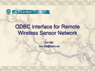 ODBC interface for Remote Wireless Sensor Network
