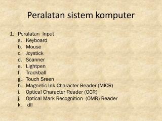 Peralatan sistem komputer