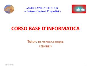 CORSO BASE D'INFORMATICA