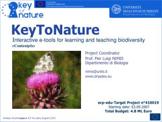 I nteractive e-tools for learning and teaching biodiversity e Content plus