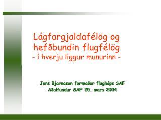 Lágfargjaldafélög og hefðbundin flugfélög - í hverju liggur munurinn -