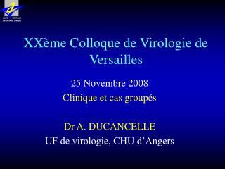 XXème Colloque de Virologie de Versailles