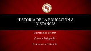 Historia de la educación a distancia