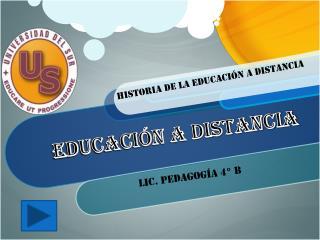 Lic. Pedagogía 4° b