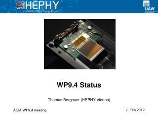 WP9.4 Status