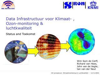 Data Infrastructuur voor Klimaat- , Ozon-monitoring &  luchtkwaliteit