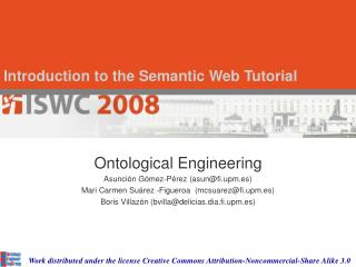 Introduction to the Semantic Web Tutorial