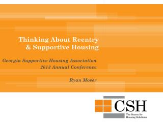 Thinking About Reentry & Supportive Housing
