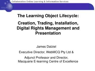 The Learning Object Lifecycle: