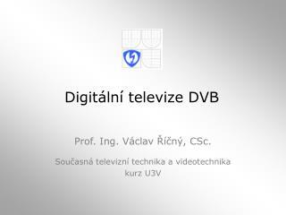 Digitální televize DVB