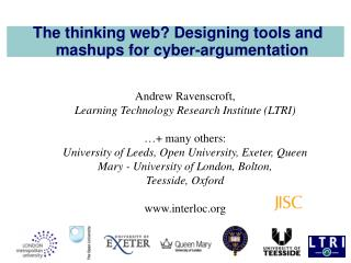 The thinking web? Designing tools and mashups for cyber-argumentation