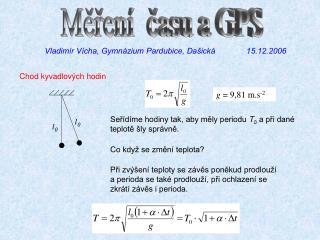 Měření  času a GPS