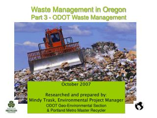 Waste Management in Oregon  Part 3 - ODOT Waste Management