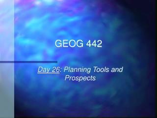 GEOG 442
