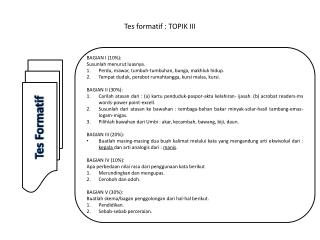 Tes formatif : TOPIK III