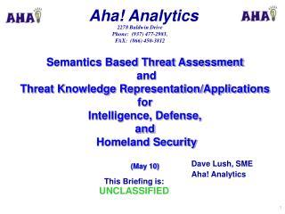 Dave Lush, SME Aha! Analytics