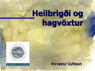 Heilbrigði og hagvöxtur
