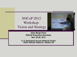 SOCoP 2012 Workshop:  Vision and Strategy