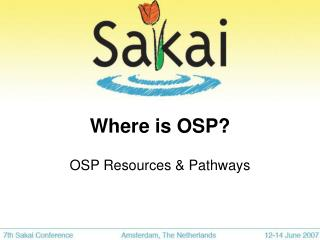 Where is OSP?
