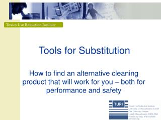 Tools for Substitution
