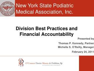 Division Best Practices and  Financial Accountability