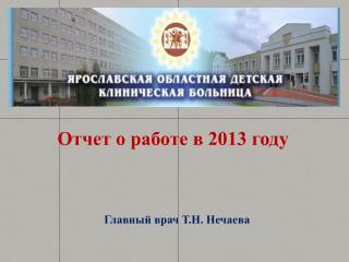 Отчет о работе в 2013 году
