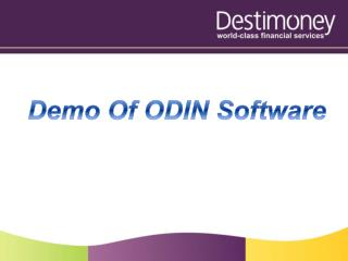 Demo Of ODIN Software