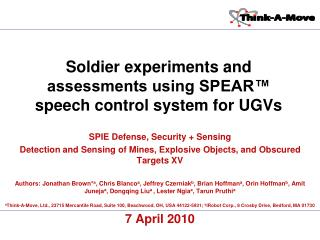 SPIE Defense, Security + Sensing